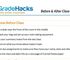 Before & After Class Checklist