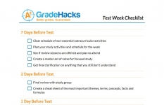 Test Week Checklist